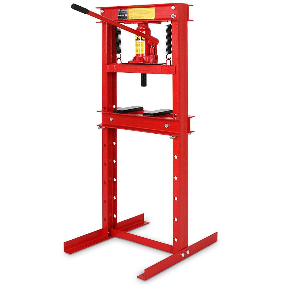 Werkstattpresse Lagerpresse inkl. Hydraulikpumpe und 2x Druckplatten Hydraulikpresse Dornpresse (max. 12T)  BaumarktKundenbewertungen