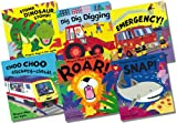Margaret Mayo On the Go Awesome Engines Picture Book Collection - 6 Books RRP £35.94 (Choo Choo Clickety-Clack!; Dig Dig Digging; Emergency!; Roar!; Snap!; Stomp, Dinosaur, Stomp!)