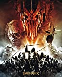 Poster Trilogy die Streitkräfte mit Sauron Flammenauge Feuer Auge Motiv, 40 x 50 cm