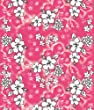 KAUFMAN - Hibiscus Pink 60in x 70in, 5 Feet x 6 Feet Velour Beach Blanket or ...