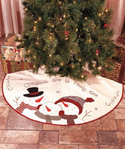 Snowman Christmas Tree Skirt 40 thru 50 Inches | Christmas Wikii