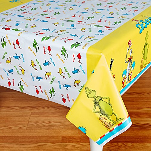 Dr Seuss Party Supplies - Plastic Table Cover