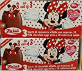 2 Boxes (6 Eggs) Disney Minnie Chocolate Surprise Inside, Free Gift