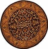 Safavieh Golden Jaipur Collection GJ250C Handmade Wool Round Area Rug, 6-Feet, Burgundy and Gold