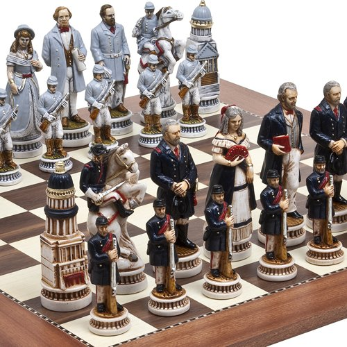 "American Civil War Luxury Chessmen from Italy & Astor Place Chess Board. Giant Size King: 5 5/8"" at Amazon.com"