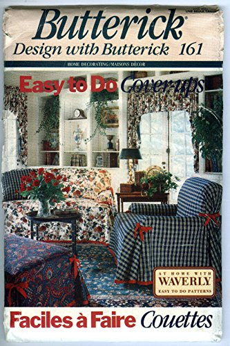 Butterick 161 Cover-Ups Furniture Throws & Pillow Sewing Pattern