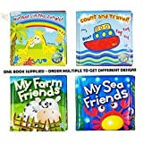 2 X Soft Bath Book Baby Toddler Childs Bathtime Play Floating Educational Toy