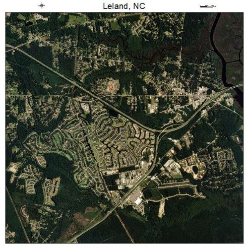 Aerial Photography Map of Leland, North Carolina
