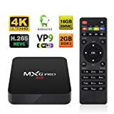 Android TV BOX 2GB/16GB 4K Improved Version MXG Pro Android 6.0 S905X Quad Core (Color: 16G)