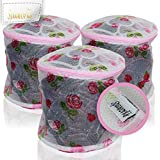 Spaworks Bra Wash Laundry Bag - for Delicates Intimates Lingerie and Hosiery - 3 Pack Roses