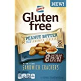 Lance Gluten Free Sandwich Crackers, Peanut Butter, On the Go Packs 8 Count (Pack of 4)
