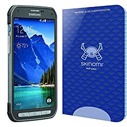 Samsung Galaxy S5 Active Screen Protector, Skinomi® Tech Glass Screen Protector for Samsung Galaxy S5 Active Clear HD and 9H Hardness Ballistic Tempered Glass Shield with Lifetime Warranty
