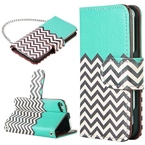iPod touch 6 Case,iPod Touch 6 Wallet Case,ULAK Colorful Synthetic Leather Wallet Case with Flip Case Design + Credit Card Slots and Fold Media Stand for iPod touch 5 6 (4
