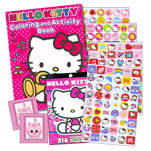 Hello-Kitty-Coloring-Book-Stickers-96-pg-Coloring-Book-Over-200-Hello-Kitty-Stickers-plus-Bonus-Stickers