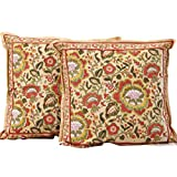 Chhipaprints Cushion Covers Yellow Flower Set Of 2