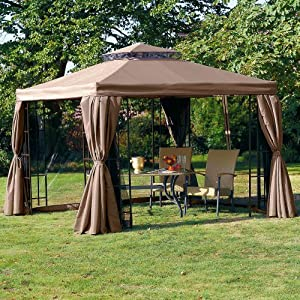 pavillon gala inkl moskitonetz u seitenw nde ca l3 x b3 x h2 6 m. Black Bedroom Furniture Sets. Home Design Ideas