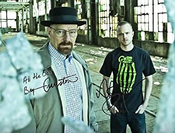 Bryan Cranston and Aaron Paul in Breaking Bad promo photo with Autographs