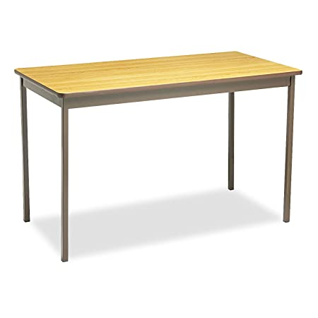 Utility Table, Rectangular, 48w x 24d x 30h, Oak, Sold as 1 Each