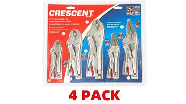 Crescent Locking Plier Set (5 Piece 4-Pack) (Tamaño: 5 Piece 4-Pack)