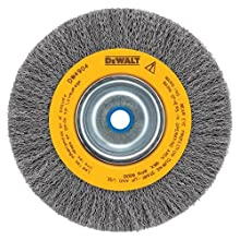 DEWALT DW4908 10-Inch Crimped Bench Wire Wheel, 3/4-Inch Arbor, Wide Face .014-Inch