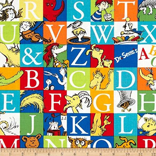 Dr. Seuss ABC Blocks Adventure Fabric
