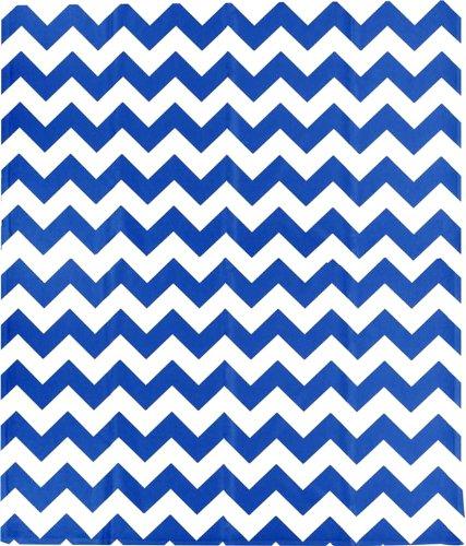 Chevron Blue/White Fleece Throw Blanket 50X60 Inches