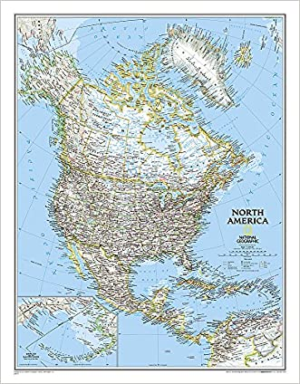 North America Classic [Tubed] (National Geographic Reference Map) written by National Geographic Maps - Reference