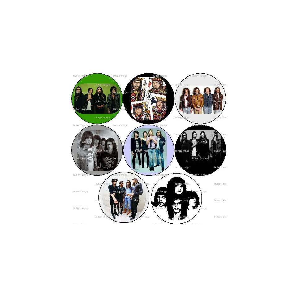 Set of 8 KINGS OF LEON Pinback Buttons 1.25 Pins Rock Band