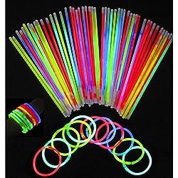 Theme My Party Glow Sticks Bracelets (Pack of 100).
