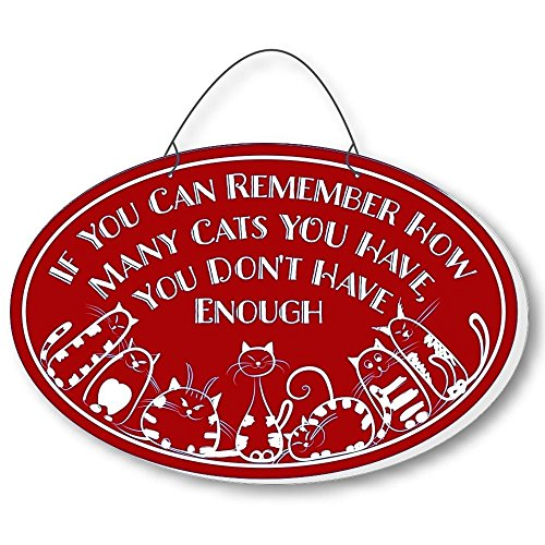 Cool Cats Cat-Gang Oval Laser-Etched 3-In-1 Plaques Not Enough Red front-282284