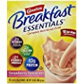 Carnation Breakfast Essentials, Strawberry Sensation Powder, 10-Count Envelopes (Pack of 6)