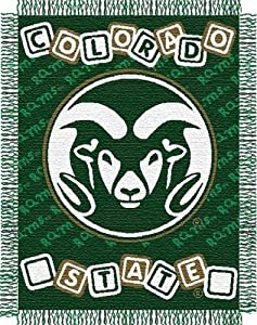 Buy NCAA Colorado State Rams 36-Inch-by-46-Inch Woven Jacquard Baby Throw by Northwest