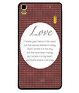 Printvisa 2D Printed Love Designer back case cover for Lenovo A7000 - D4562
