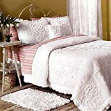 Vintage Luxe Chenille Coverlet- White