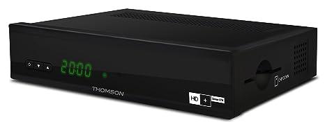 THOMSON THS845 Digitaler HD+ SmartTV Satelliten Receiver inkl. Smartcard fur 6 Monate, QWERTZ, WLAN, HDMI, Webfunktion, Mediathek, Ethernet, 2x USB