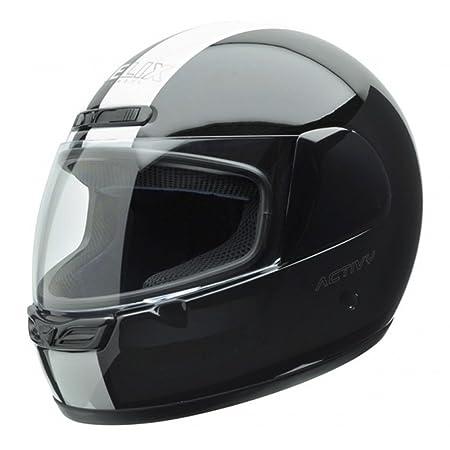 NZI 150244G323 Activy Classic Black/White, Casque de Moto, Taille XL Multicolore