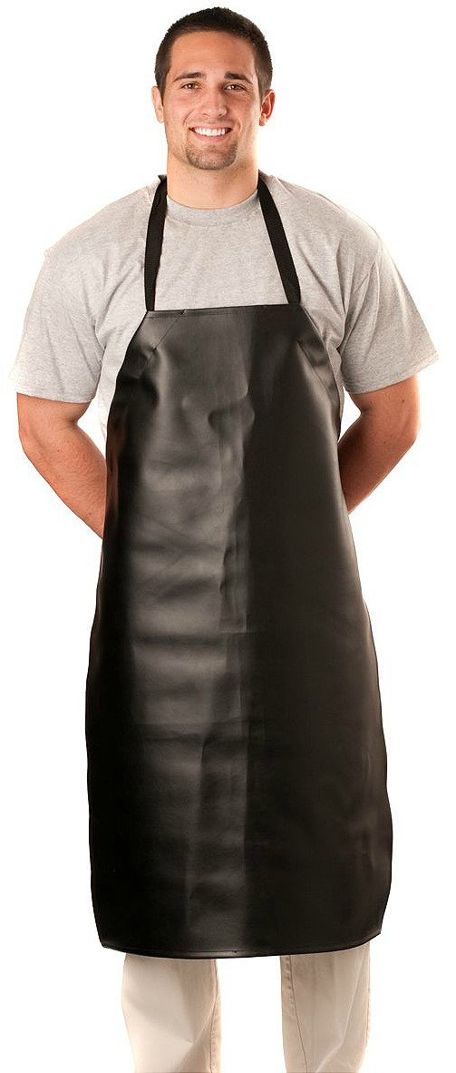 Heavy Duty Aprons : Heavy duty vinyl waterproof apron black dealfaves