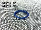 【NEW YORK,NEW YORK】アルミカラースペーサー Cタイプ/ブルー[BMX][ピスト/ピストバイク/シングルスピード/カスタムパーツ]