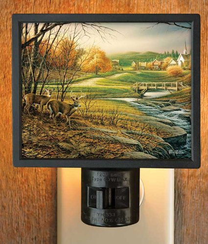 Indian Summer Whitetail Deer Gallery Art Night Light by Terry Redlin