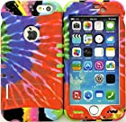myLife Stylish Design and Layered Protection Case for iPhone 6 Plus (5.5 Inch) by Apple {Tie Dye Psychedelic 70s Finish Three Piece SECURE-Fit Rubberized Gel}
