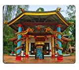 Luxlady Gaming Mousepad IMAGE ID: 34432468 View of old monastery beside garden Taken at Vihara Dewi Kwan Im Kraton Kawi Mountain Malang east Java Indonesia