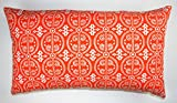 Pacific & Rose Cosmo Lumbar Pillow Cover in Tangerine w/ free shipping