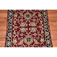 Dean Traditional Antique Cranberry Premium Nylon Carpet Rug Runner - Purchase by the Linear Foot