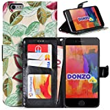 DONZO Wallet Flowers Custodia per Apple iPhone 6 Plus 5.5 verde