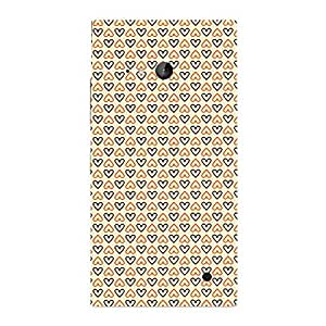 Skin4gadgets HEART Pattern 14 Phone Skin for LUMIA 730 (ONLY BACK)
