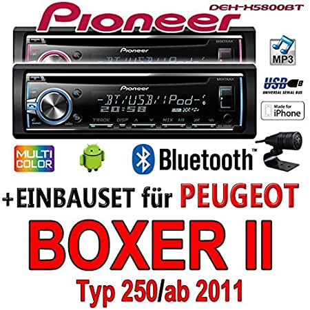 Peugeot Boxer 2 - Pioneer DEH-X5800BT - CD/MP3/USB Bluetooth Autoradio - Einbauset