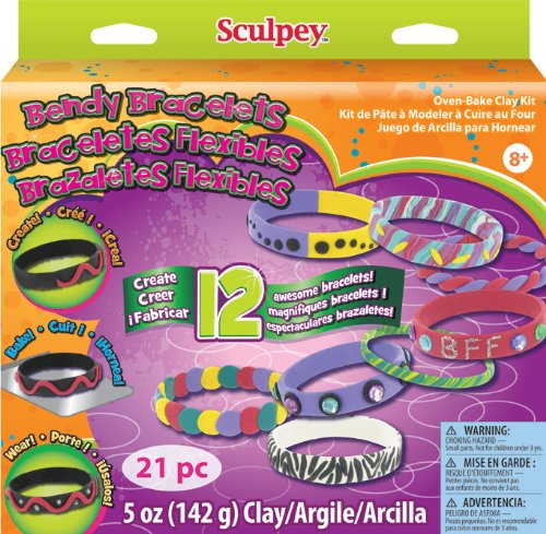 Scupley Bendy Bracelets Kit (Sculpey Oven Bake Clay Kit compare prices)