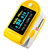 Dagamma DP150 Pulse Oximeter with Carrying Case, Batteries, Neck/Wrist Cord & One-Year Warranty Advanced LCD Screen (Yellow Canary) (Color: Yellow)