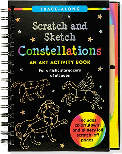 Constellations: An Art Activity Book [With Wooden Stylus] (Trace-Along Scratch and Sketch)