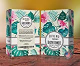 Bath Bombs by Divine Botanics Large and Lush 4oz balls with organic and natural ingredients including Moisturizing Oils Shea Butter and Essential Oils Made in USA - Unique Valentine's Day gift